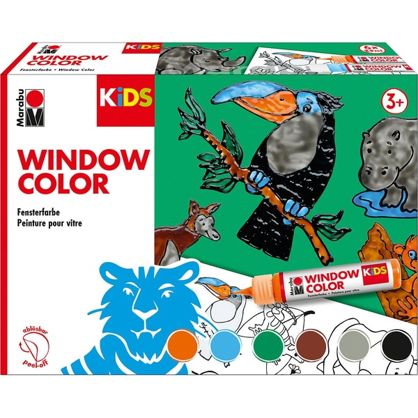 Marabu KIDS Window Color Set DSCHUNGEL 6 x 25 ml