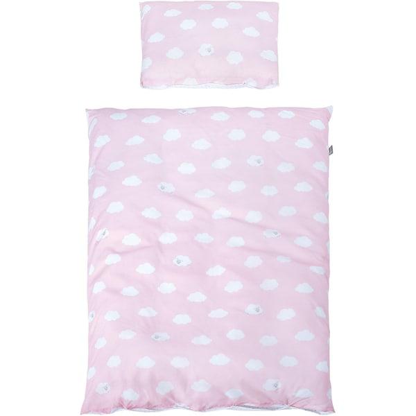 Roba Kinderbettwäsche Kleine Wolke rosa 100 x 135 cm