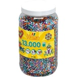 Hama Perlen 211-90 Dose mit 13.000 midi-gestreiften Perlen
