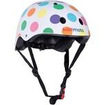kiddimoto Fahrradhelm - Pastel Dotty Pünktchen Bunt