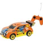 Happy People Hot Wheels Fast 4WD - Ferngesteuertes Auto orange 8 kmh mit voller Lenkfunktion