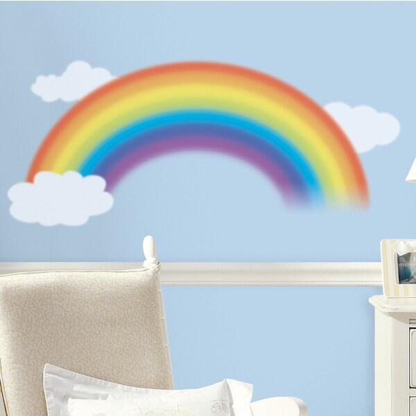 RoomMates Wandsticker Regenbogen mit Wolken 4-tlg.