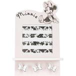 Bilderrahmen und Garderobe mit 3 Haken Minnie Mouse rosa