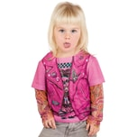 Limit Kostüm 3D T-Shirt Bikerin pink