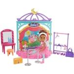 Mattel Barbie Chelsea Puppe brünett Ballerina mit Ballett-Spielset Anziehpuppe