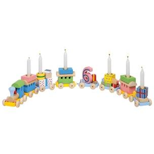 Goki Geburtstagszug Lok mit 7 Anhängern