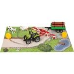 Idena Traktor Set mit Zubehör 7 Teilig