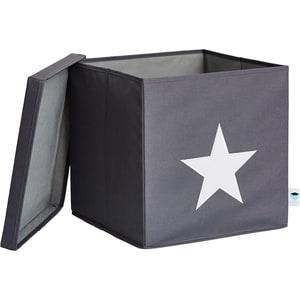 STORE IT! Ordnungsbox Stern mit stabilem Deckel grauweiß
