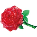 Crystal Puzzle rote Rose