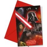 Procos Einladungskarten Star Wars 6 Stück inkl. Umschläge