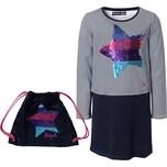 Desigual Kinder Jerseykleid mit Wendepailletten Und Rucksack