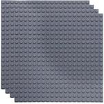 Basisplatte 20x20 Holzkohlen Grau Viererpack