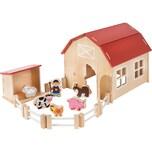 myToys Holzbauernhof mit Spielfiguren