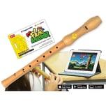 Voggenreiter Flute Master App mit Blockflöte Aus Bergahorn Barocke Griffweise