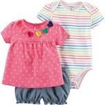 Carter`S Baby Set T-Shirt Kurzarmbody Sweathose für Mädchen