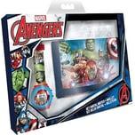 Geschenkset Geldbörse Armbanduhr Marvel Avengers