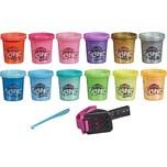 Hasbro Play-Doh Slime: Super Stretch und HydroGlitz Vielfalt 12er-Pack für Kinder ab 3 Jahren 51g-Do