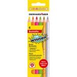 Eberhard Faber Buntstifte Neon Tri WINNER 6 Farben