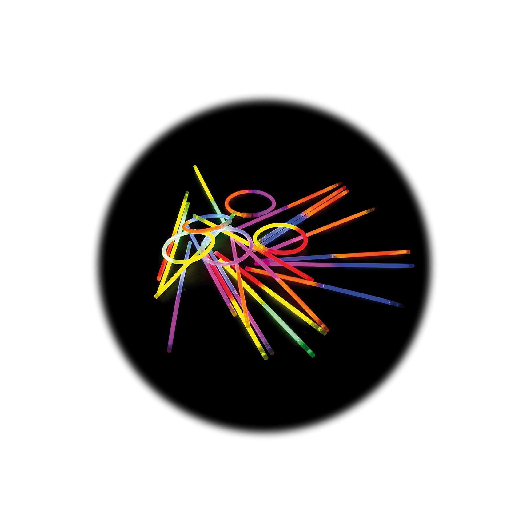 Knicklichter 25er Pack zweifarbig mit Verbinder für Armreifen