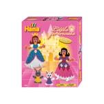 Hama Perlen 3230 Geschenkset Kleine Prinzessinnen 3.000 midi-Perlen und Zubehör