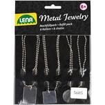 LENA Nachfüllpack Metal Jewelry 6 Ketten 6 Anhänger