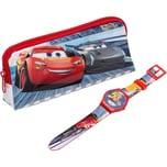 JOY TOY Set mit LCD Uhr und Täschchen Cars 3