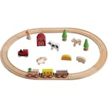 EverEarth Holz-Eisenbahn-Set Bauernhof