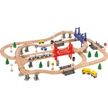 myToys Holzeisenbahn-Spielset 84-tlg.