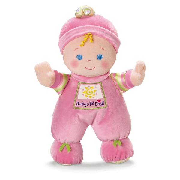 Mattel Fisher-Price Meine erste Puppe Baby-Spielzeug für Neugeborene Stoffpuppe