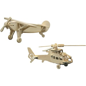 Pebaro Holzbausatz-Set Hubschrauber Sportflieger