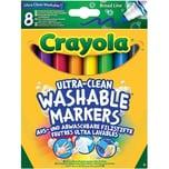 Crayola 8 Ultra Clean aus- und abwaschbare Filzstifte