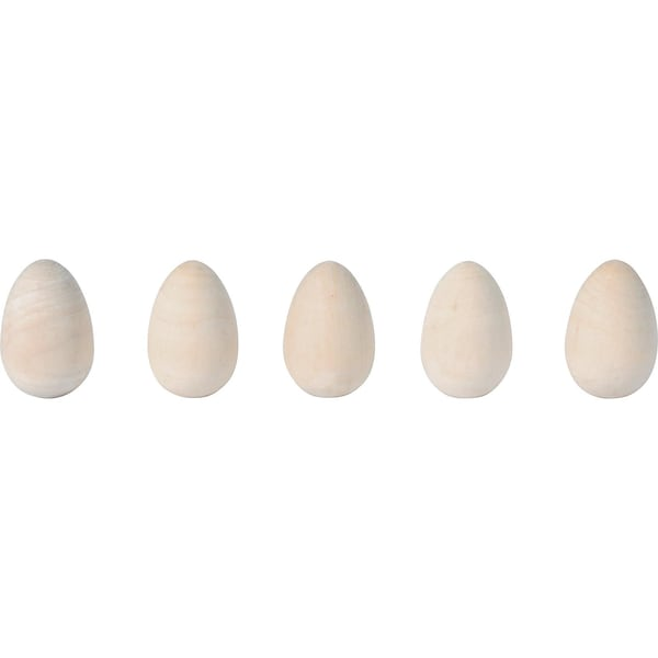 Eduplay Eier aus Holz gedrechselt 10 Stück