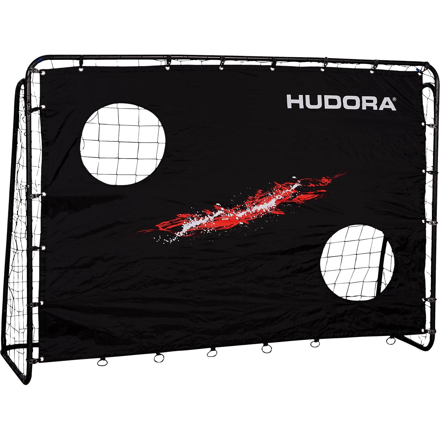Hudora Fußballtor Trainer mit Torwand schwarz
