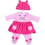 BAYER Kleider für Puppen 33-38 cm: 3-tlg. - Kleid Hose Mütze rosapink