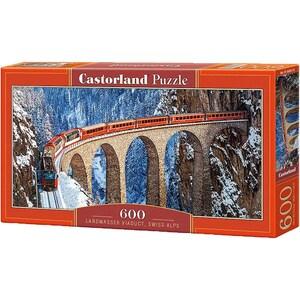 Castorland Puzzle 600 Teile Landwasser Viaduct Schweizer Alpen