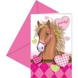Procos Einladungskarten Horses 6 Stück inkl. Umschläge