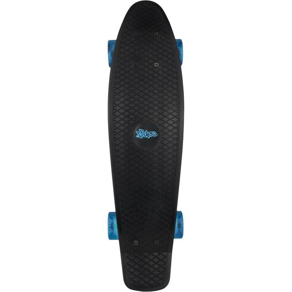 No Rules Skateboard Beachboard fun schwarz