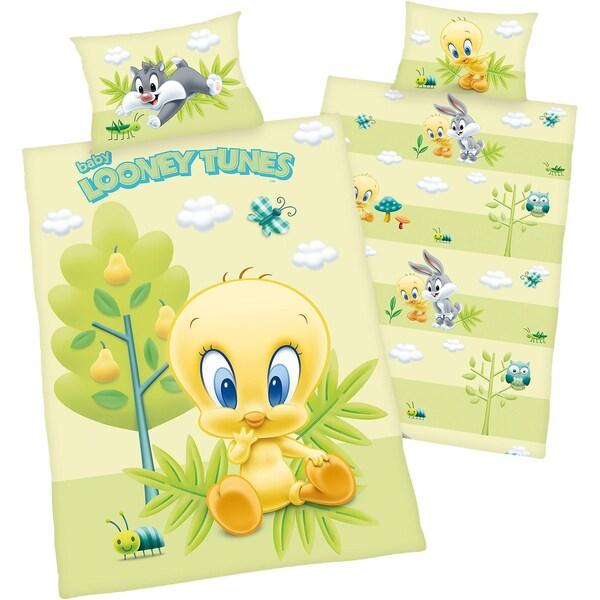 Herding Wende- Kinderbettwäsche Looney Tunes Tweety Renforcé 100 x 135 cm