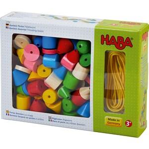 Haba Bambini Perlen Fädelwurm 72 Holzteile