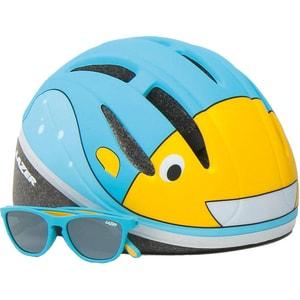 Lazer Fahrradhelm Bob Bulb und Sonnenbrille Set Gr. 46-52 cm blau