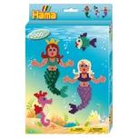 Hama Perlen 3431 Geschenkset Meerjungfrauen 2.000 midi-Perlen und Zubehör