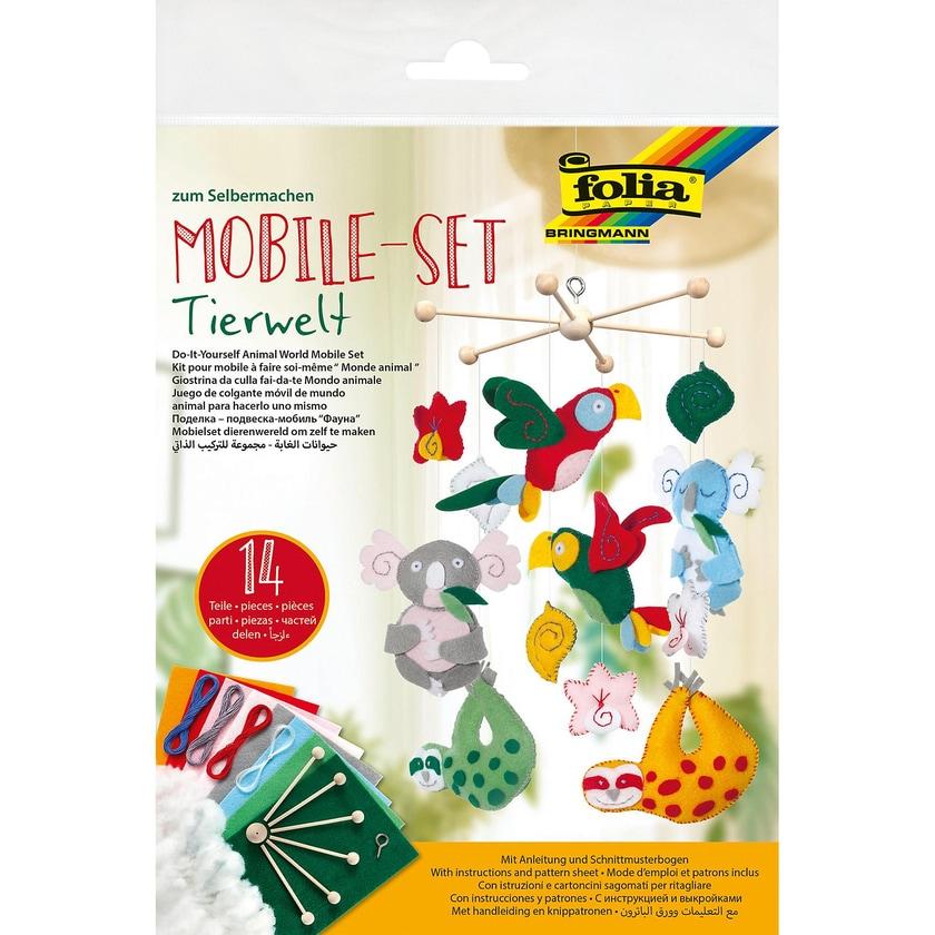 Folia Filz-Bastelset Mobile Tierwelt