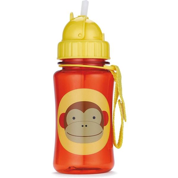 Skip Hop Trinkflasche mit Strohhalm Affe