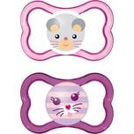 Mam Schnuller Air Silikon Gr. 2 pink 2er Pack