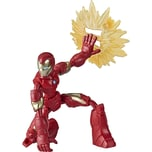Hasbro Marvel Avengers Bend And Flex Action-Figur 15 cm - biegbare Iron Man Figur enthält ein Effekt