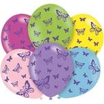 Amscan Luftballon Schmetterling 6 Stück