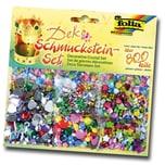Folia Deko Schmucksteine-Set, verschiedene Farben & Formen, mehrfarbig, 800-teilig (1 Set)