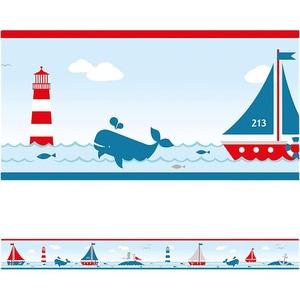 Bordüre Sailing rot 45 m x 115 cm