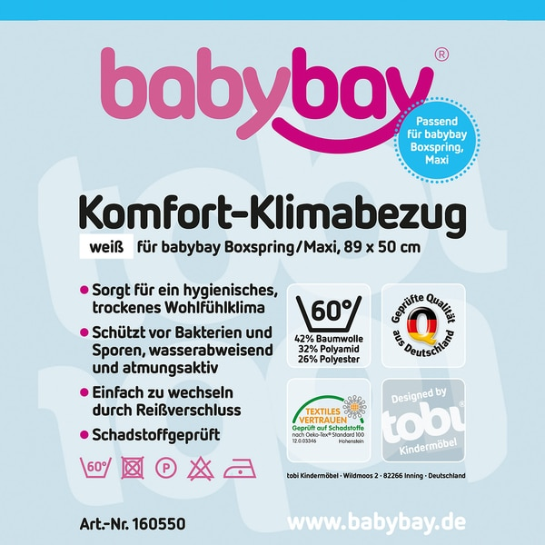 Tobi Klima-Bezug für babybay maxi/boxspring, 89 x 50 cm
