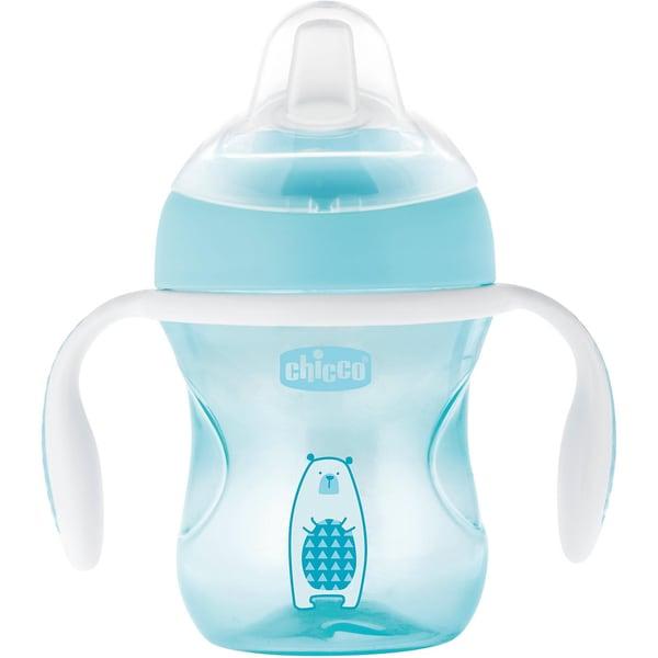 Chicco Trinklernflasche Transition light blue 200 ml